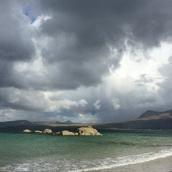 There are many different clouds – not everyone causes rain. Tully Beg, Renvyle, Irland