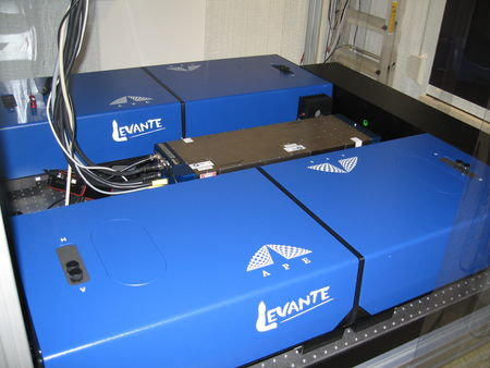 Figure 3: The ps-OPO laser system in our laser lab.