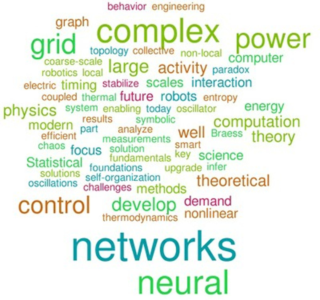 "<div style=""text-align: justify;""><span>We aim towards a fundamental understanding of the structure and dynamics of complex networks in physics and biology as well as engineered and social networks. We focus on computation in and control of networked systems, particularly neural circuits and power grids; moreover, the inference of network structures as well as their optimal design constitute basic research questions. We often develop mathematical tools required for understanding these highly complex systems. The Network Dynamics team works on foundations and applications in the areas of computational neuroscience, computer science, statistical physics of disordered systems, artificial neural networks and robotics, and, more recently, gene evolution and power grids and, most recently, complex human interaction networks.</span></div>"